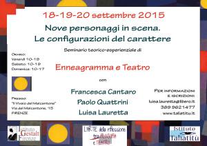 Enneagramma e teatro.5settembre 2015